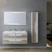 Meuble de salle de bain URBINO 1200 Scandinave et Blanc