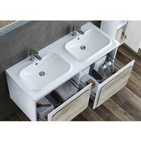Meuble de salle de bain ROVIGO 1200 Scandinave et Blanc