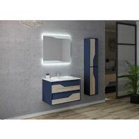 Meuble de salle de bain URBINO 800 Scandinave et Bleu Saphir