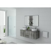 Meuble de salle de bain CARSOLI Chêne gris
