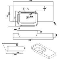 Plan vasque solid surfaceRéf : SDK3