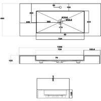 Plan vasque solid surface Réf : SDPW15