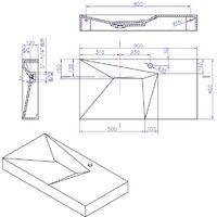 Plan vasque solid surface Réf : SDWD38427