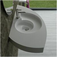 Plan vasque solid surface spirale Réf : SDPW61