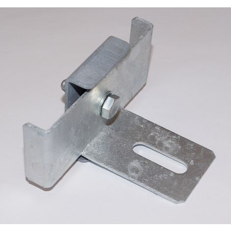 Clamp with fence support bracket for mesh size 5 x 10 cm