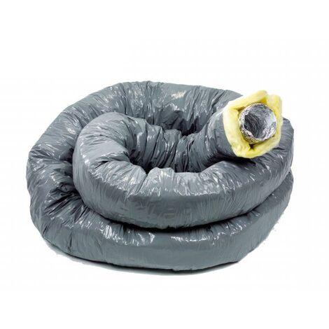 6m Gaine PVC Souple Isolée 50 mm Int. Alu D80 -  ECONONAME - GPI80/AP50L6  Diamètre 80