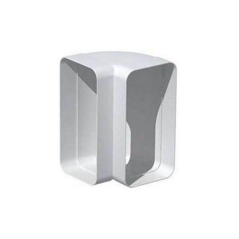 Coude vertical rectangulaire 90° 55x110 - CVR 200 UNELVENT - 833646  Coude 90° vertical