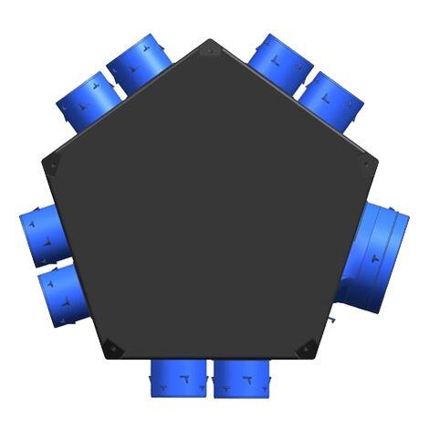 Plenum insufflation universel isolé 8xD80 + 1xD125 - UNELVENT - 890031