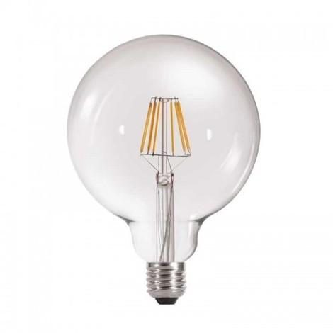 BOMBILLA LED GLOBO G125 6W E27 TRANSPARENTE Color de Iluminación Cálido (2700k)