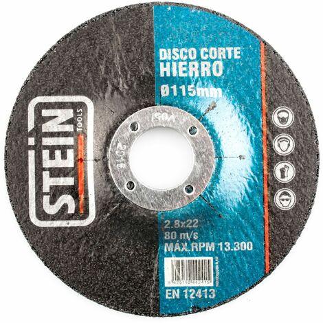 ALFA disco amoladora corte rapido hierro 125mm 2,4mm 25 unidades