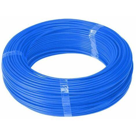 Rollo 50 metros cable unipolar libre de halógenos CPR 10mm azul