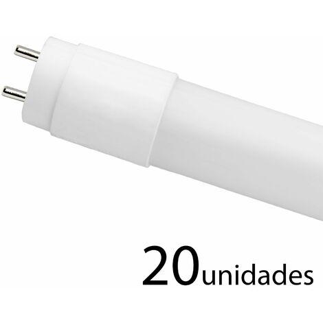 20 unidades tubo LED T8 330 CRISTAL 120cm 18w cálido