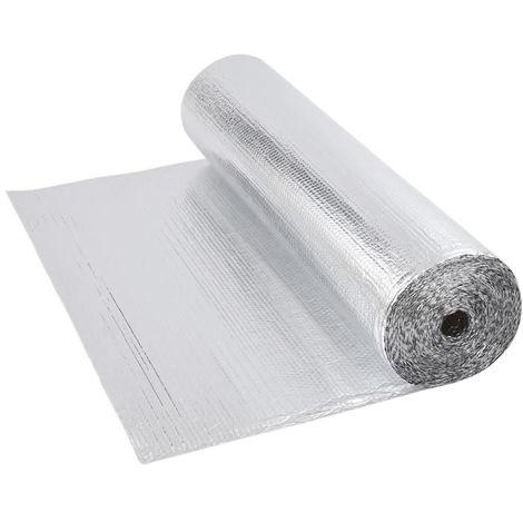 Double Aluminium Single Layer Bubble Wrap Foil Insulation 1.2m x 5m Loft Floor