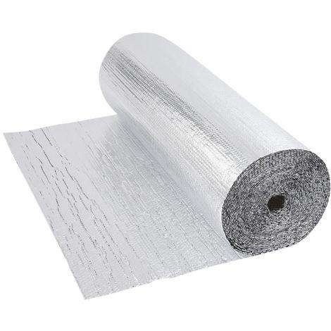 Double Aluminium Double Layer Bubble Wrap Foil Insulation 1.2m x 5m Loft Floor