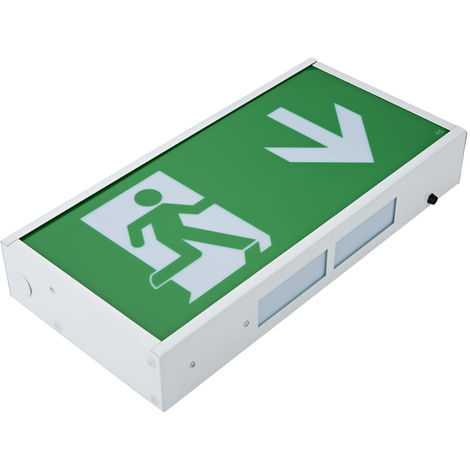 3W LED Green Maintained / Non Maintained Emergency Exit Light Sign Right Arrow