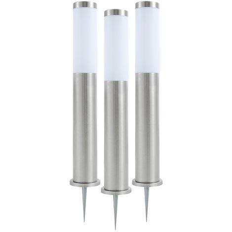 Set of 3 Biard LED Post Bollard Pedestal Light Outdoor Garden Path Lawn IP44
