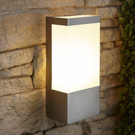 Biard Modern Cube Outdoor Garden LED Wall Light Stainless Steel Waterproof IP44