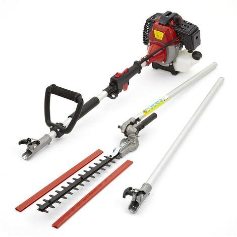 52cc Petrol Long Reach Hedge Trimmer Cutter Garden Tool 3m Extension Pole 3HP