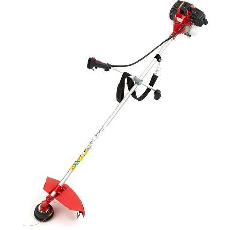 43cc Petrol Lightweight Grass Lawn Edge Weed Strimmer & Brushcutter - Cordless