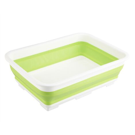 10L Large Folding Collapsible Washing Up Bowl Bucket Kitchen Cleaning Camping