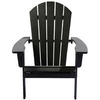 Weatherproof Bjorn Outdoor Polywood Adirondack Chair - Garden Patio (Black)