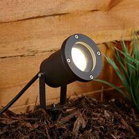 Set of 6 Biard Garden Path Lawn Outdoor Ground Adjustable Spike Spot Light IP44