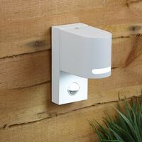 Curved Modern Up or Down Outdoor Security Wall Light Built-In PIR Motion Sensor