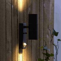 Biard Up Down Outdoor Garden Security Wall Light IP44 with PIR Motion Sensor