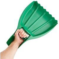 2x Leaf Scoop Garden Leaves Hand Rake Grabber Lawn Yard Debris Rubbish Collector