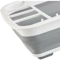 Collapsible Folding Kitchen Dish Drainer Sink Drying Rack Tray Camping Caravan