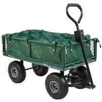 4 Wheel Garden Mesh Wheelbarrow Tipper Dump Wagon Hand Cart Transport Trolley