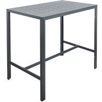 Grey Polywood Outdoor Garden Patio Furniture High Bar Table & 4 Stool Chair Set