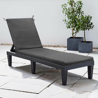 Red Luxury Sun Lounger Cushion with Ties - CUSHION ONLY