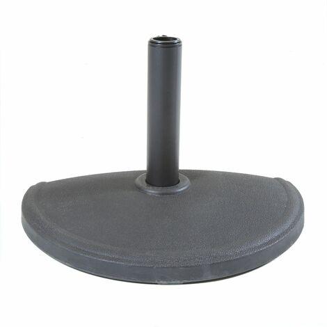 Charles Bentley Concrete Umbrella Half Base for Half Canopy Umbrella - Dark Grey - Grey