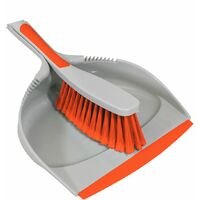Charles Bentley 'Brights' Kitchen Bundle Dustpan & Brush Washing Up Orange - Orange