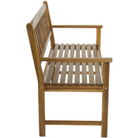 Charles Bentley FSC Acacia Wooden 2 Seater Bench - Brown