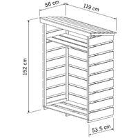 Charles Bentley FSC Wooden Garden Small Log Store Heavy Duty Firewood Storage - Natural