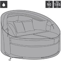Charles Bentley Deluxe Rattan Day Bed Cover - Black - Black