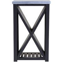 Charles Bentley Metal and Clay Fibre Top Log Store H94 x D38 x W58cm Black - Black