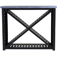 Charles Bentley Metal and Clay Fibre Top Large Log Store H95 x D38 x W117.5cm - Black