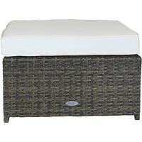 Charles Bentley L-Shaped 3 Seater Outdoor Rattan Furniture Lounge Set - Natural - Natural