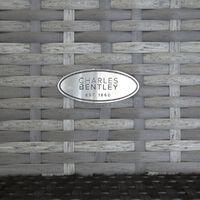 Charles Bentley Rattan Wicker Outdoor Patio Garden Storage Box - Grey - Grey