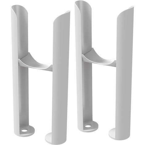 HB Signature Alpha White Column Radiator Feet - 2 Column