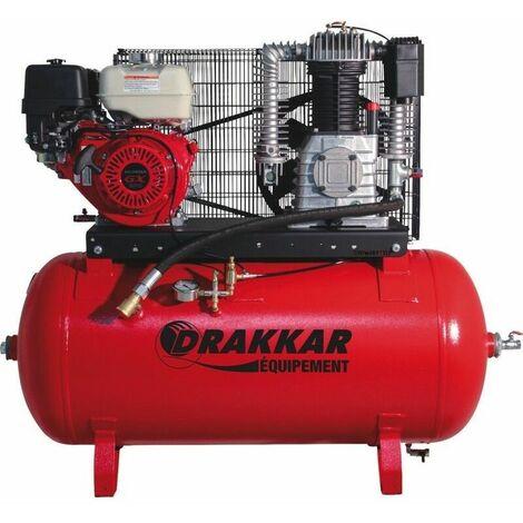 Compresseur thermique essence 9CV 230L moteur HONDA - Drakkar