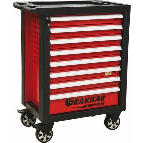 Servante complète Drakkar 248 outils dans module finition métal