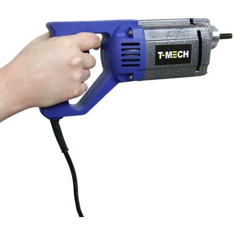 T-Mech - Vibreur à Béton Manuel Electrique de 1100W, Aiguille Vibrante 35mm Tuyau 2m, Vibrateur de Béton Haute Performance - Bleu