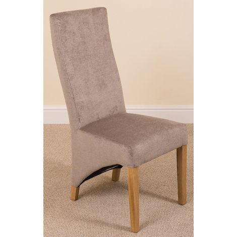 Lola Curved Back Dining Chair [Grey Fabric]