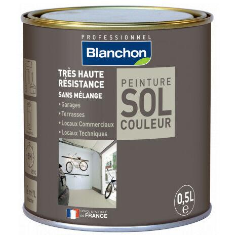 Peinture polyuréthane sol couleur 0.5L   Gris moyen