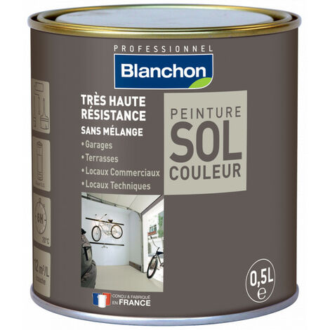 Peinture polyuréthane sol couleur 0.5L   Pierre