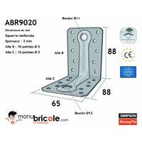 Equerre renforcée ABR9020 - 88x65x88x2mm - SIMPSON